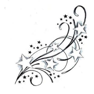 Tatouage étoiles avec décoration