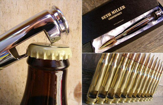 shotgun shell 50 caliber bottle openers groomsmen gifts - Top Groomsmen Gift Ideas for 2014