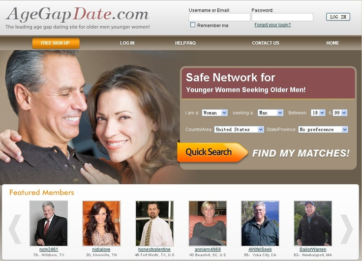 Age Gap Dating Site - Dating Older Women & Dating Older Men