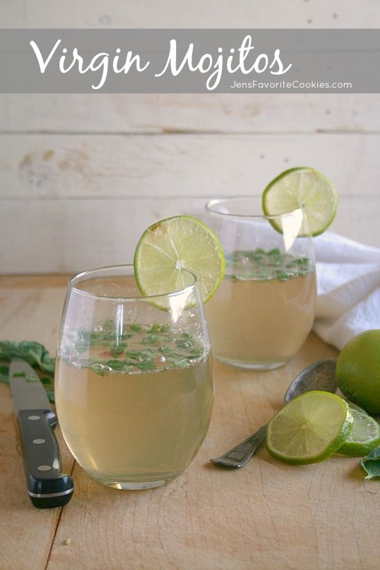 How to make Virgin Mojitos  -  this mint and lime drink is non-alcoholic and so refreshing!