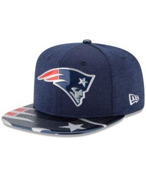 New Era New England Patriots 2017 Draft 9FIFTY Snapback Cap - Navy/Red Adjustable