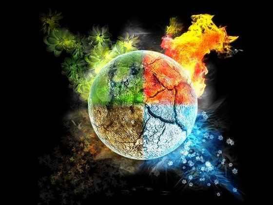 The elements: Fire, Water, Earth, Air, Nature, Ice, Light, Darkness. Which one are you?