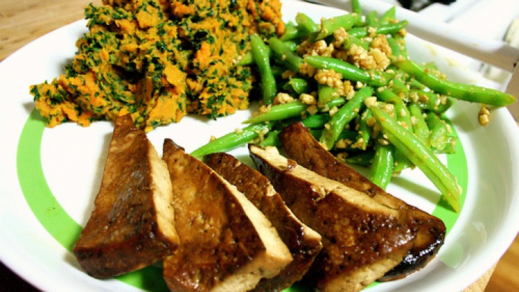 ... recipes   Pinterest   Baked Tofu, Green Bean Salads and Bean Salads
