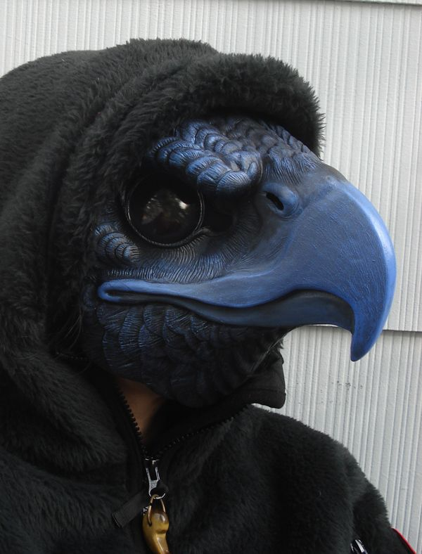 Tengu bird mask by Miss monster. Tengu are a type of legendary creature found in Japanese folk religion and are also considered a type of Shinto god