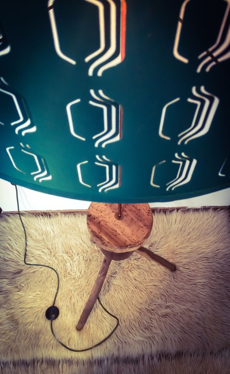 Rustic vintage hungarian wooden stand turned into trendy floor lamp. Turquoise. by ViktoryFactory on Etsy https://www.etsy.com/listing/220522606/rustic-vintage-hungarian-wooden-stand