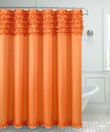 Look what I found on #zulily! Orange Miramar Shower Curtain #zulilyfinds