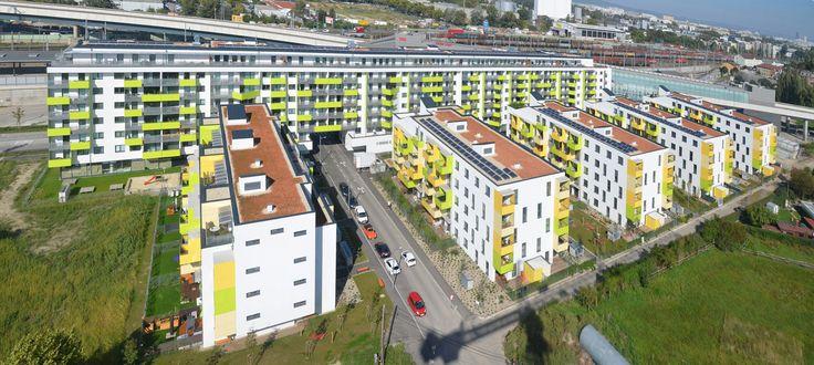 Passivhaus-Wohnanlage Kaisermühlenstraße in Wien - Dämmstoffe - Wohnen - baunetzwissen.de