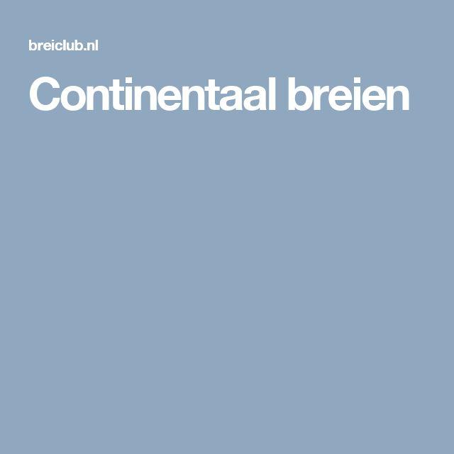 Continentaal breien