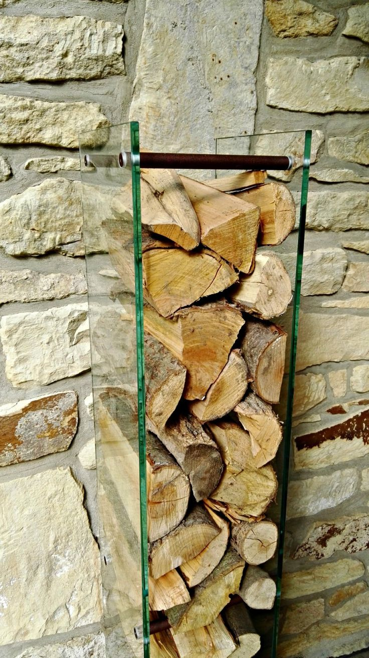 Glass Firewood Holder by KureliDesign on Etsy