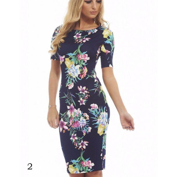 Blumendruck Sommer Kleid 2017 versch. Farben