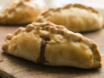Cornish Pasty  Oh my, so good!  With a pat of butter ... or a dollop of HP sauce ... or both!  So So So good!