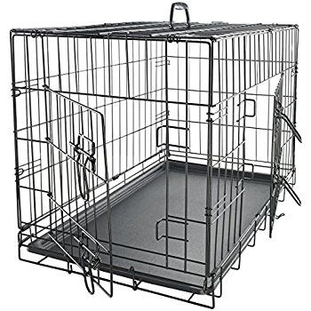 "Amazon.com : OxGord 42"" XXL Dog Crate, Double-Doors Folding Metal w/ Divider & Tray 42"" x 27"" x 30"" 2016 Newly Designed Model : Pet Supplies"