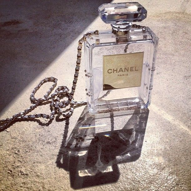 Chanel Perfume Bag. $9500, just so everyone can see my tampons, meds, card/cash holder & condoms.