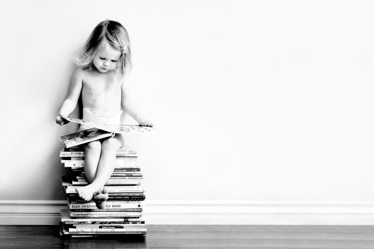 "Cute.  Love the stack of books as stool.  Careful, though, this is the kind of photo plan that will very likely change course.  :-/  (imagine books sprawled, toddler not ""cooperating"")  A great opportunity to go with it and just see what happens!"