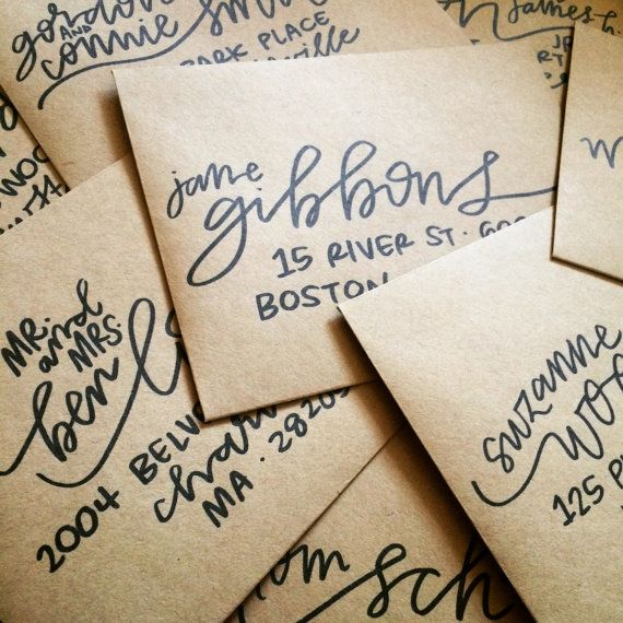 FERN Hand Lettered Envelope Addresses - Envelope Addressing for Weddings, Announcements, Invitations, & Special Occasions - Calligraphy