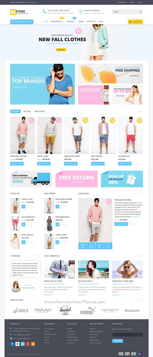 Mstore unique Multipurpose Responsive #Magento Themes #eCommerce #website #design #fashion #store