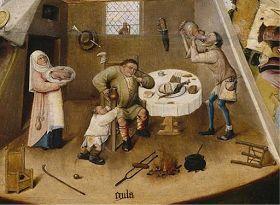 ...que os sete pecados capitais eram: 1- A Gula é o desejo insaciável em geral por comida, bebida. Segundo tal visão, esse pec...