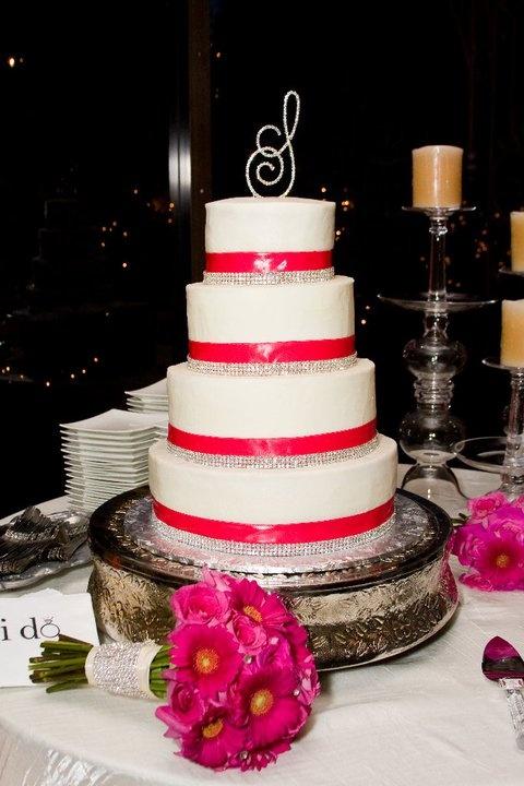 Pink & Diamond Wedding Cake