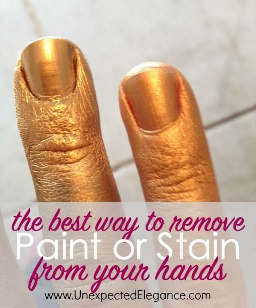 the best way to remove paint from your hands stains infos and soaps. Black Bedroom Furniture Sets. Home Design Ideas