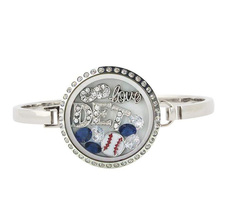 Detroit Baseball Locket Bracelet