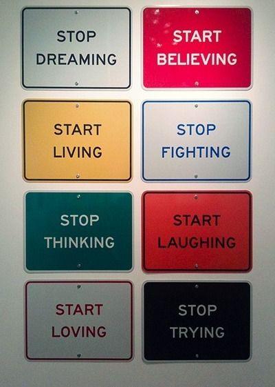 start positive - stop negative