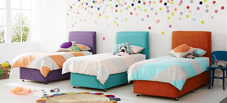 Vibrant and stylish, add a pop of colour to your kid's bedroom with the Corniche Bedhead, available in all sizes with a selection of over 70 fabrics.