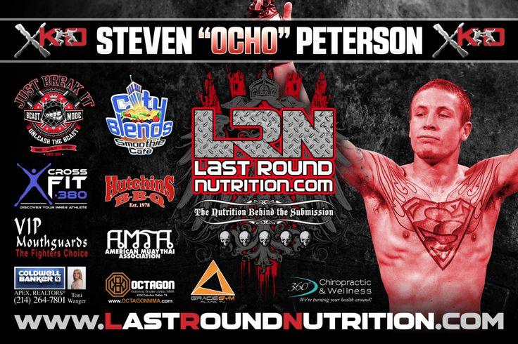 """Steven """"Ocho"""" Peterson XKO Fight Banner Design. #MMA #GraphicDesign"""