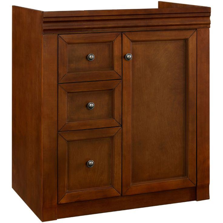 $300 Savannah series Chestnut finish vanity features: 1 ...