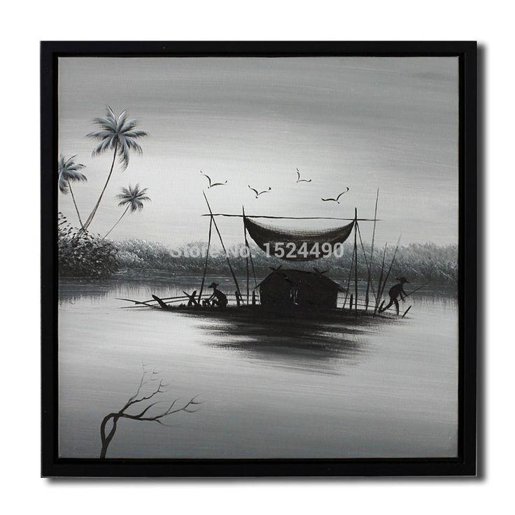 Рыбака семья эш черный пейзаж маслом внутренних дел украшение стены искусства фотографии ручная роспись холст маслом