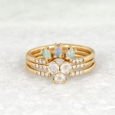 Diamond Triad Ring - Jennie Kwon