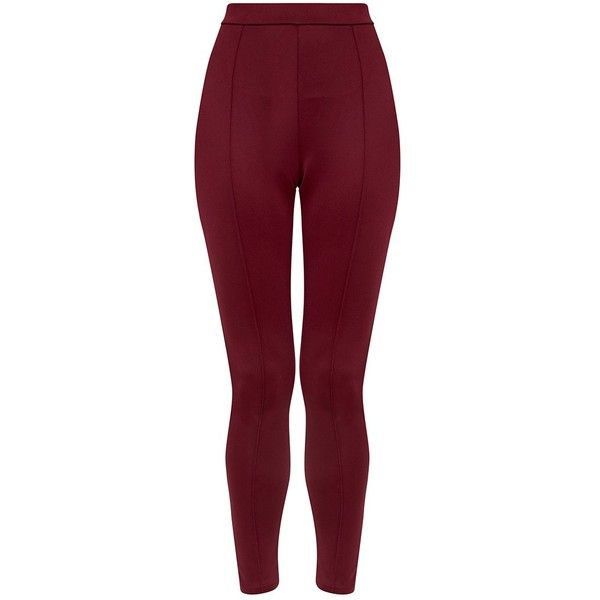 Larena Berry Front Seam Skinny Trousers ($2.11) ❤ liked on Polyvore featuring pants, capris, purple pants, skinny trousers, purple skinny pants and skinny pants