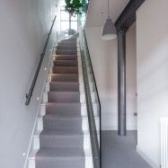 Magnificent Carpet Runners For Stairs technique London Industrial Staircase Inspiration with bespoke glass panels gray stair runner grey pendant industrial chic runner staircase design staircase