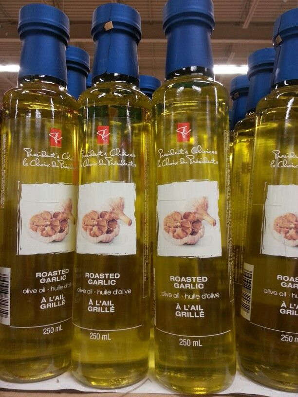 Product: President's Choice roasted garlic-infused vegetable oil.  Store: Real Canadian Superstore (Louth St. St. Catharines).  While garlic is high FODMAP, garlic-infused vegetable oil is low FODMAP, and therefore allowed on the FODMAP elimination diet trial.  This is a great way of adding garlic flavor to your recipes without adding the FODMAPs!  Neal Glauser, RD