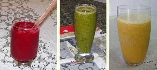 Papo de Mulher por Lucélia Pantojo: Sucos coloridos e suas combinações saudáveis.