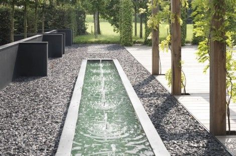 Hendricks Hoveniers : Water Feature : Formal : Modern Landscape : Materials