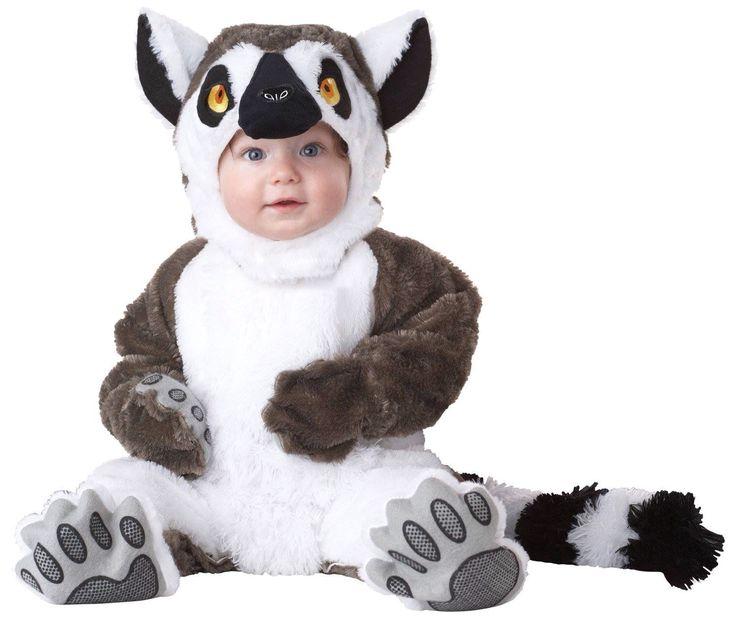 very cute california costumes lemur infant jumpsuit - Baby Cow Costume Halloween
