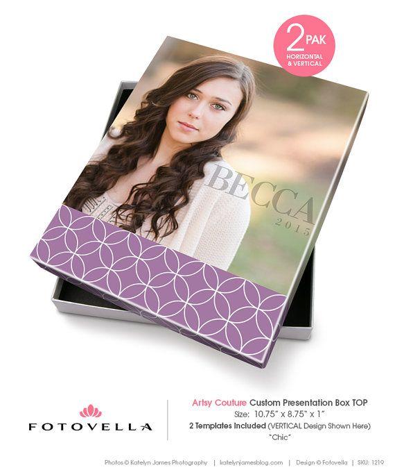 Senior Photo Image Box - Artsy Couture Box Template - 1219 - Photoshop Templates for Photographers