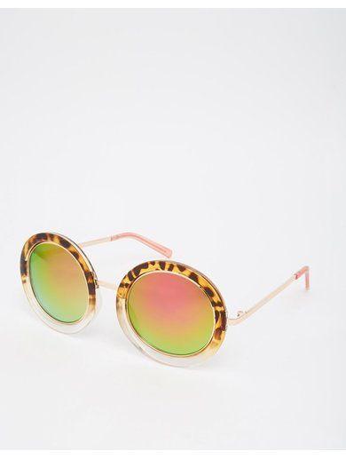 River Island Kelly Metal Rim Mirror Sunglasses Sunglasses - Brown http://sellektor.com/all?q=river+island
