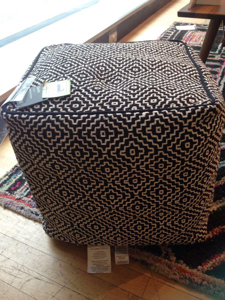 Habitat durie black footstool £95