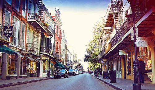 royal street, downtown new orleans, la