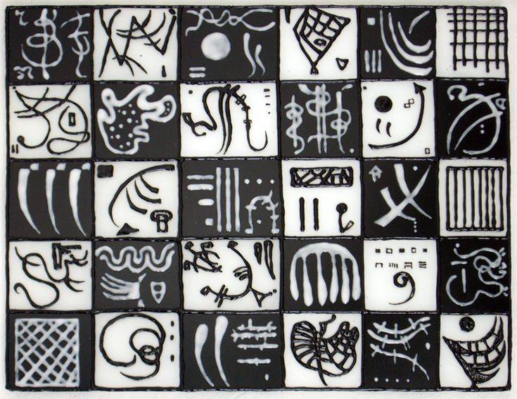 Kandinsky en noir et blanc