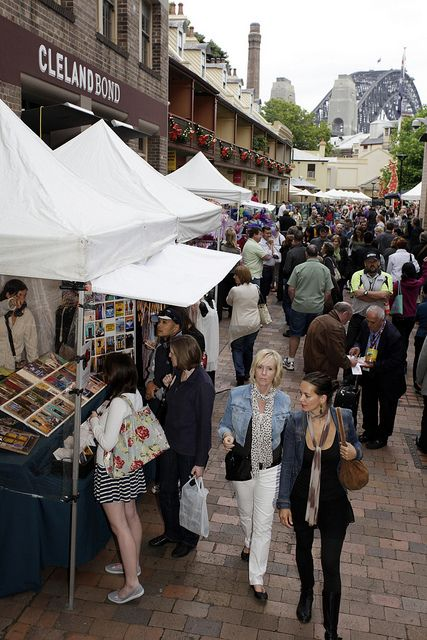 """""""The Rocks"""" is the area where Sydney started its life more than two centuries ago... Nowadays, the tiny historic precinct is packed with cafe's, bars, art galleries and hip flea markets."""