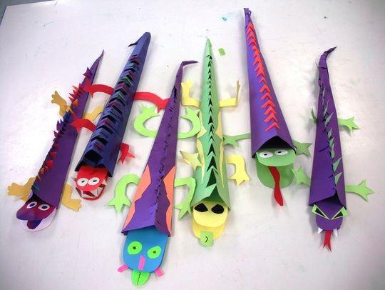 Lizard Art Projects 3d lizards | Crafts | Pinterest ...