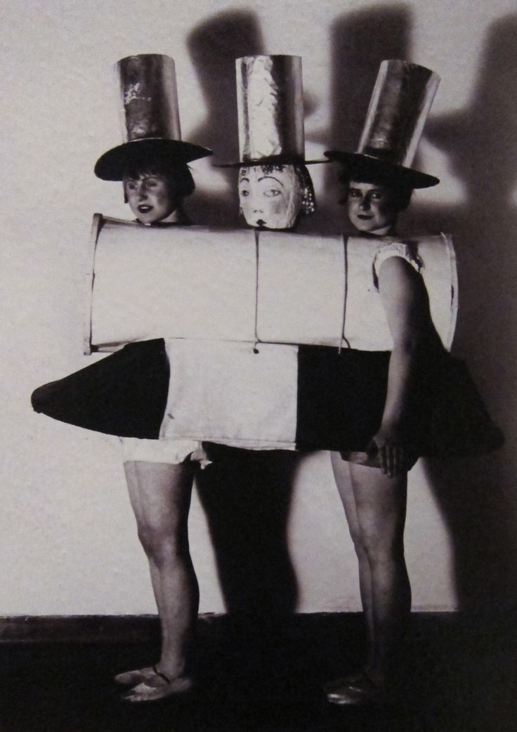 Bauhaus plays and parties: Irene or Herbert Bayer ~ Costume for the Neue Sachlichkeit Party 1926