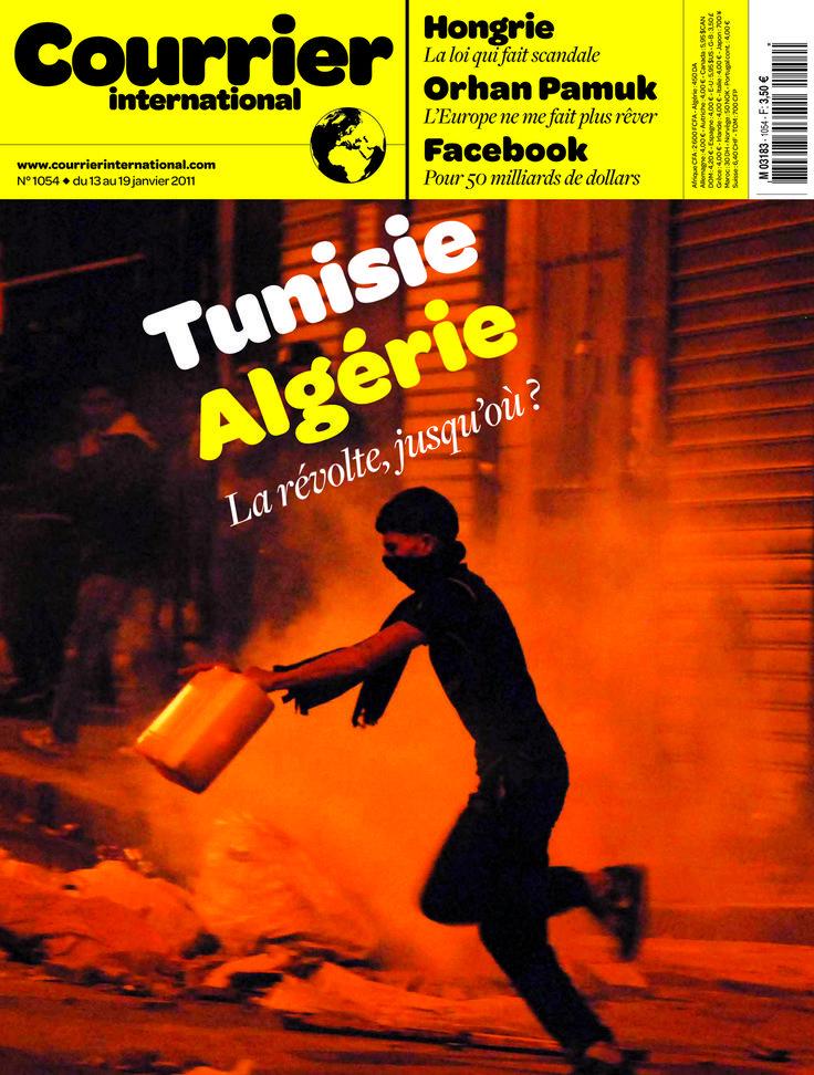 Le titre de une. Hebdo n° 1054 Tunisie, Algérie La