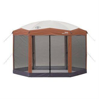 Furniture on a Budget - 12 x 10 foot hexagonal gazebo with screen