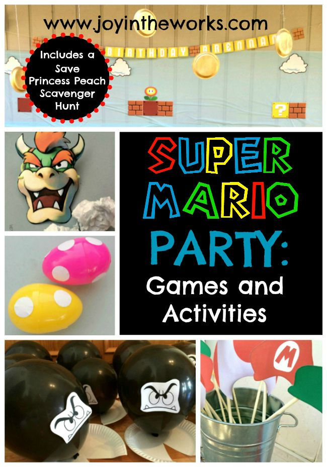 Having a Super Mario Party? Check out these Super Mario party games and activities to help host a fun party!
