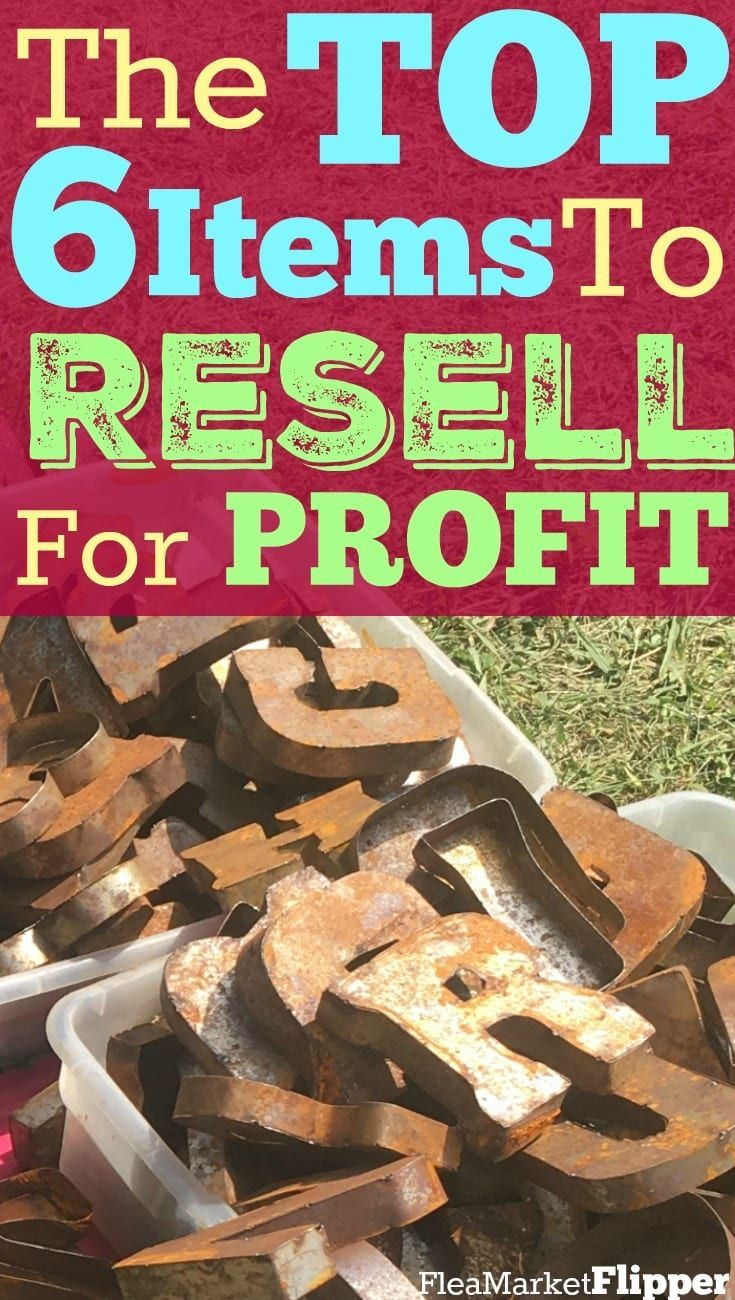 The 6 Best Items To Resell For A Profit Make More Money Things