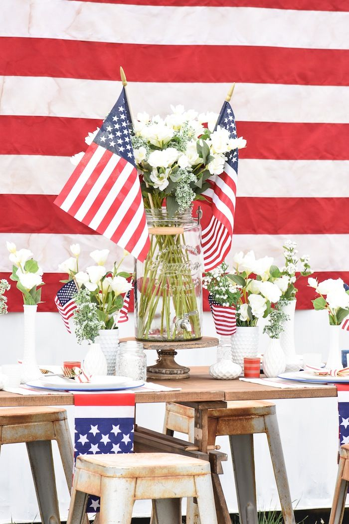 Backyard 4th of July Party with Gladiator 4th of July Party Ideas