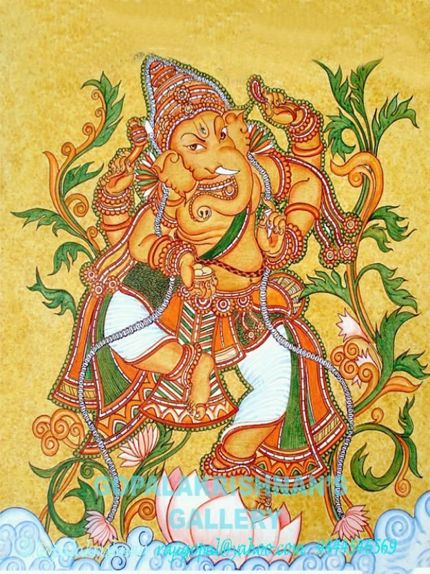 12 best ganesha painting mural images on pinterest for Mural art of ganesha